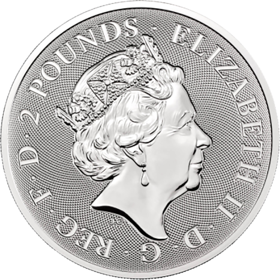 2021 Royal Mint Valiant 1oz Silver Coin (Image 2)