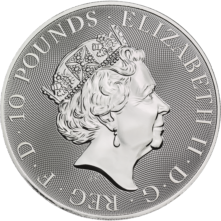 2021 UK Queen's Beasts The White Horse of Hanover 10oz Silver Coin (Image 2)