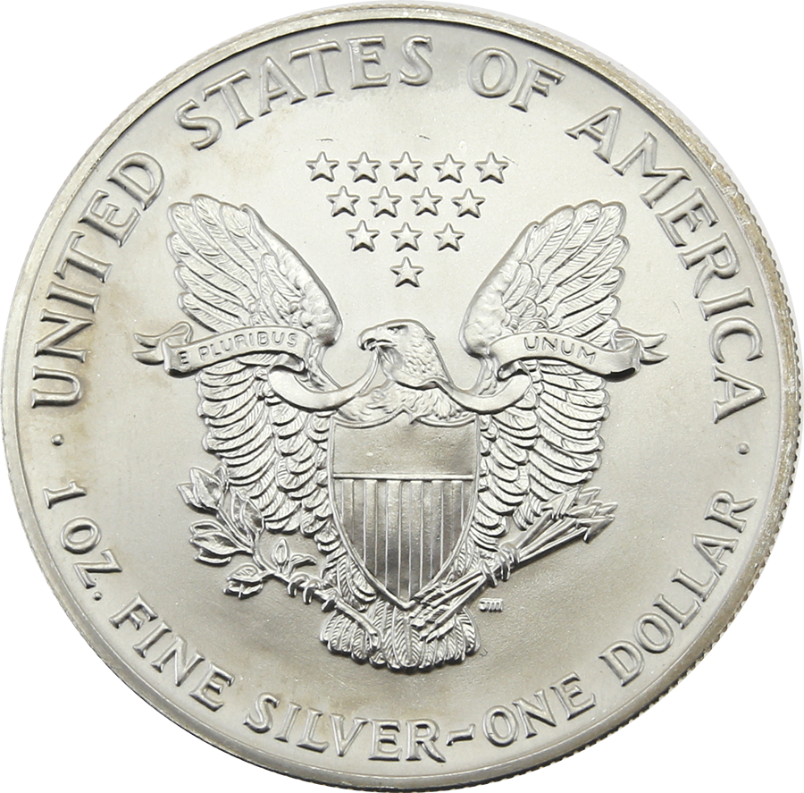 Pre-Owned 1991 USA Eagle 1oz Silver Coin - VAT Free (Image 2)