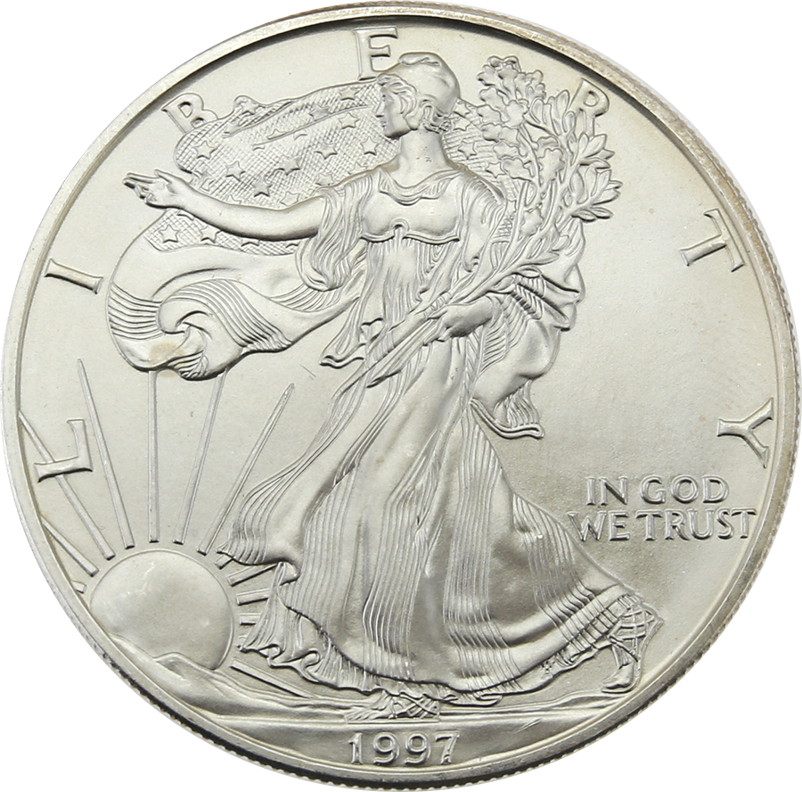 Pre-Owned 1997 USA Eagle 1oz Silver Coin - VAT Free