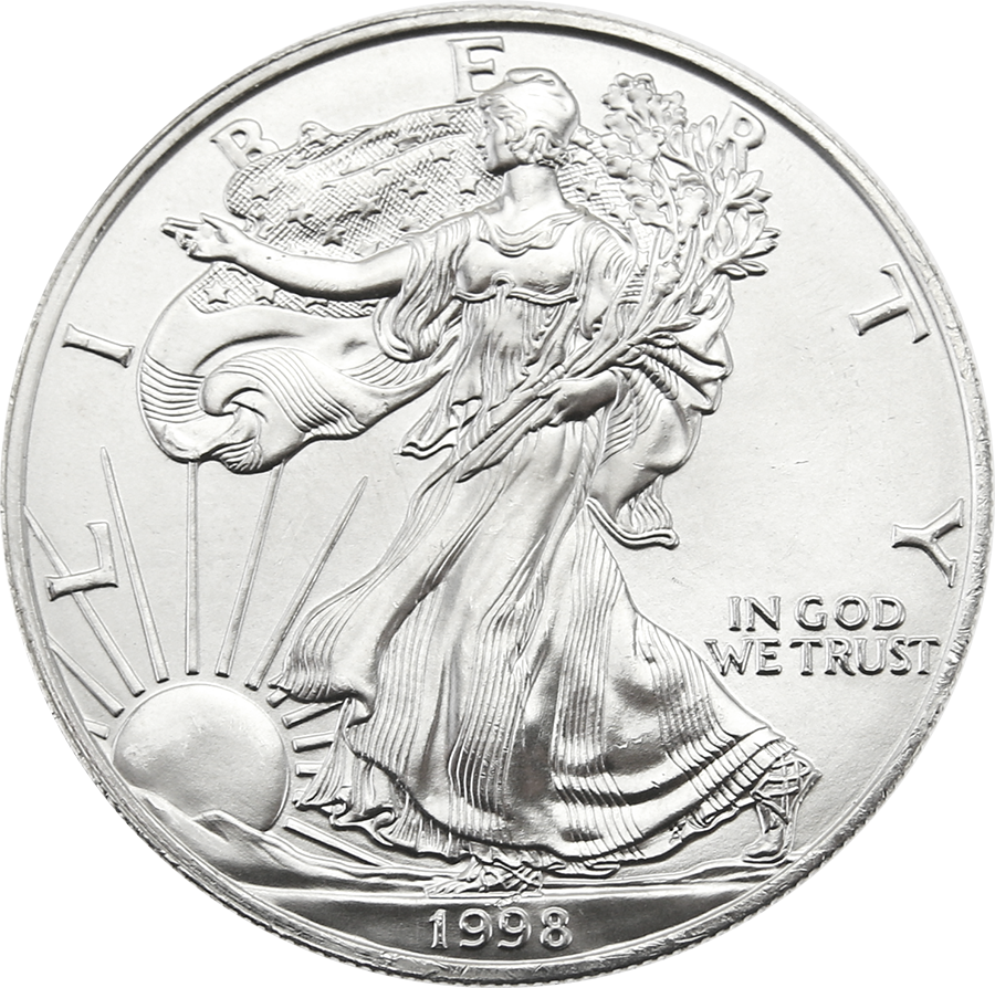 Pre-Owned 1998 USA Eagle 1oz Silver Coin - VAT Free