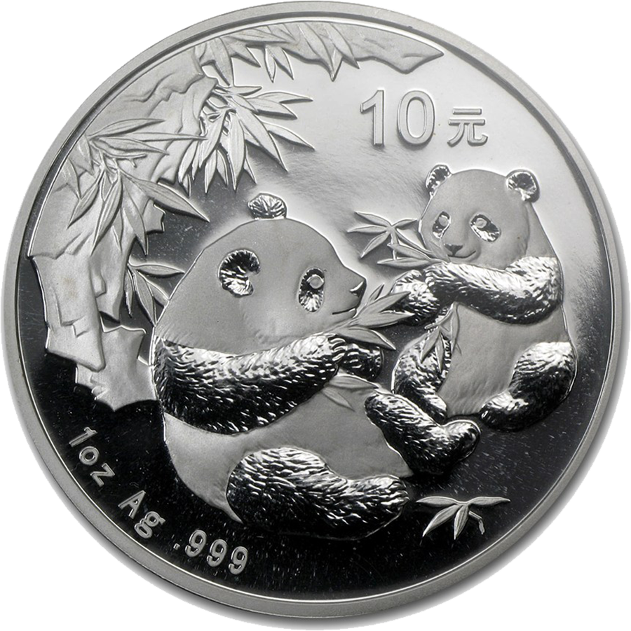 Pre-Owned 2006 Chinese Panda 1oz Silver Coin