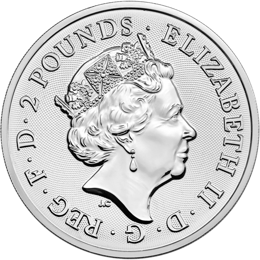Pre-Owned 2018 UK Two Dragons 1oz Silver Coin (Image 2)
