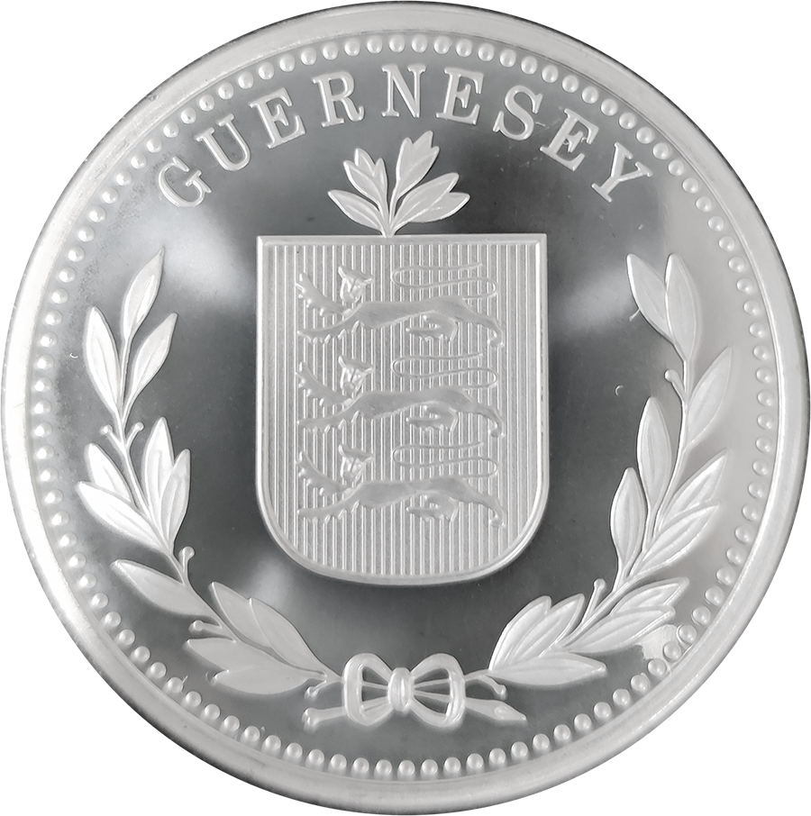 Pre-Owned 2013 Guernsey 8 Doubles £2 Silver Coin - VAT Free (Image 2)