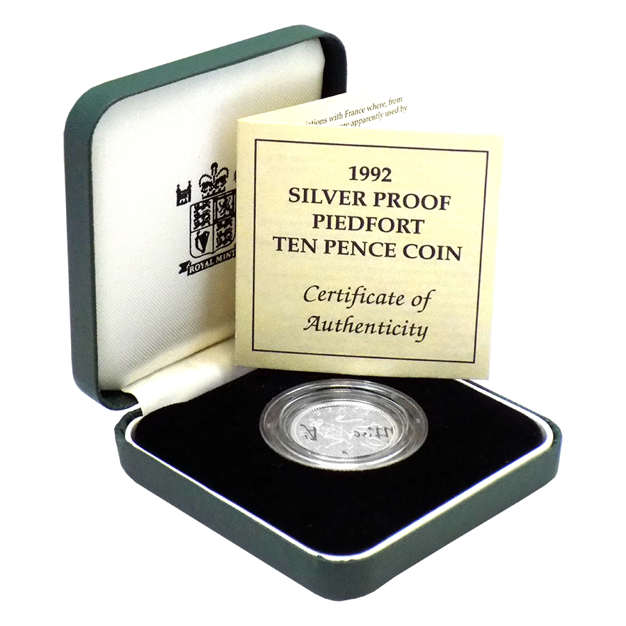Pre-Owned 1992 UK Proof Piedfort 10p Silver Coin - VAT Free