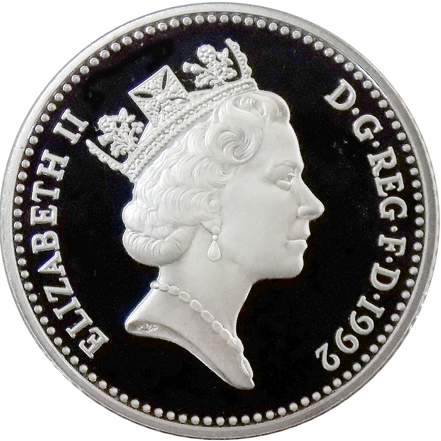 Pre-Owned 1992 UK Proof Piedfort 10p Silver Coin - VAT Free (Image 3)