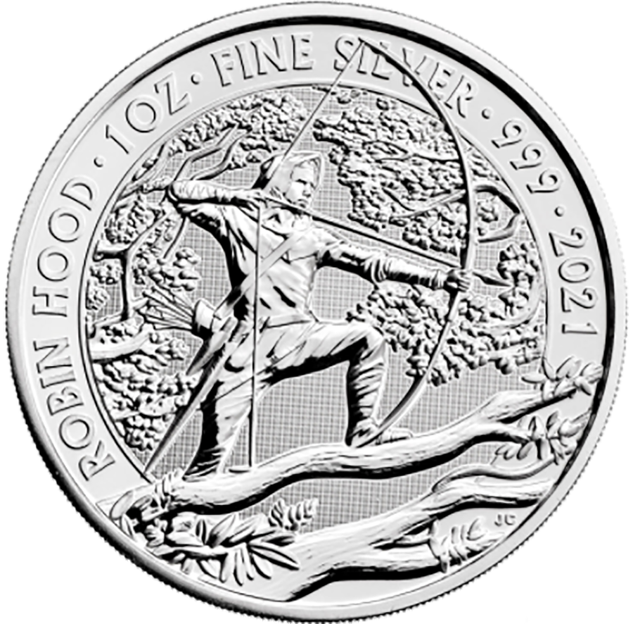 2021 UK Robin Hood 1oz Silver Coin - Second Quality