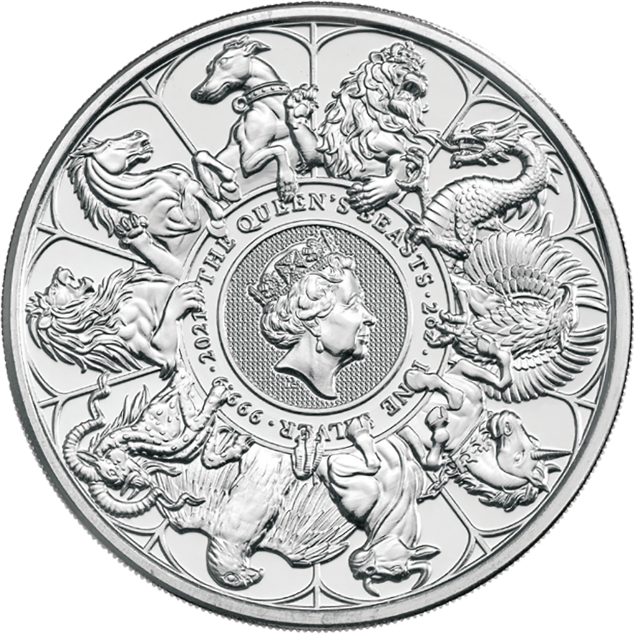 2021 UK Queen's Beasts Completer 2oz Silver Coin