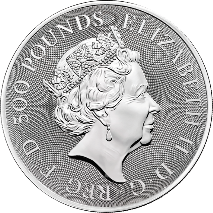 2021 UK Queen's Beasts Completer 1kg Silver Coin (Image 2)
