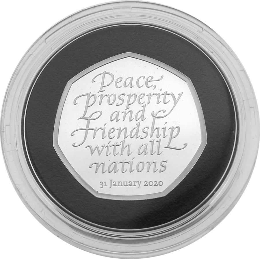 Pre-Owned UK 2020 'Withdrawal from the European Union' Silver Proof 50p Coin - VAT Free (Image 2)