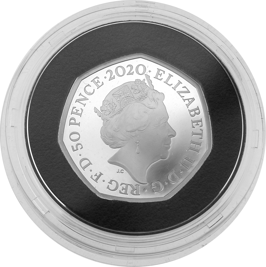 Pre-Owned UK 2020 'Withdrawal from the European Union' Silver Proof 50p Coin - VAT Free (Image 3)