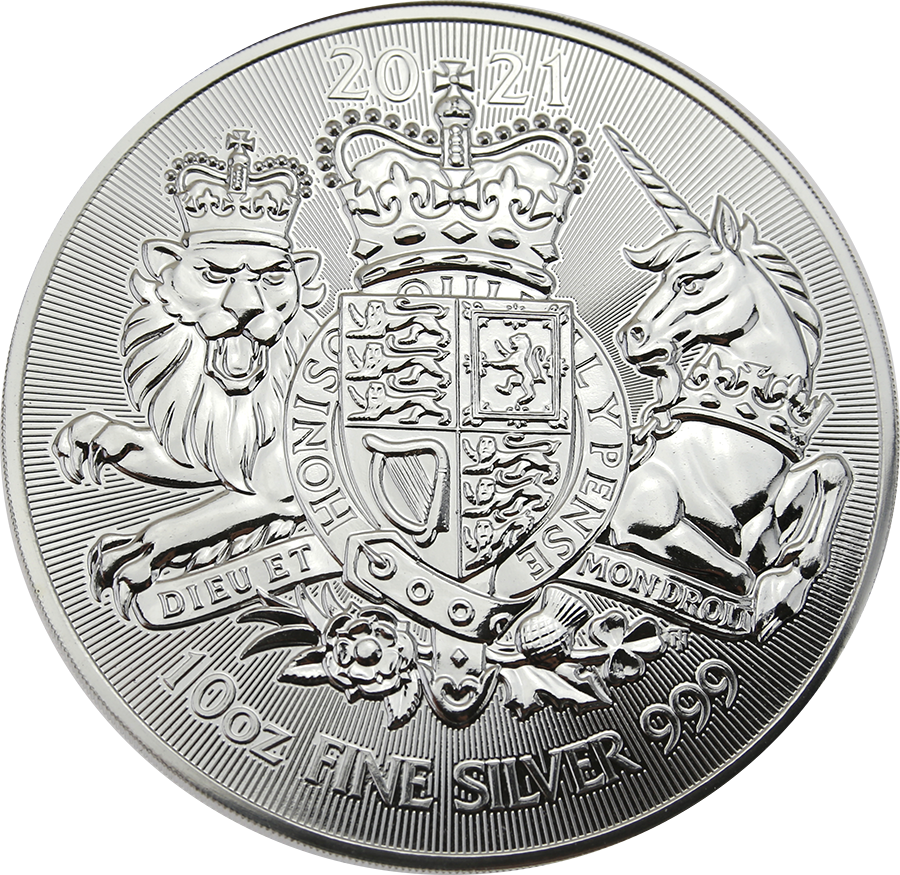 2021 UK Royal Arms 10oz Silver Coin - Second Quality