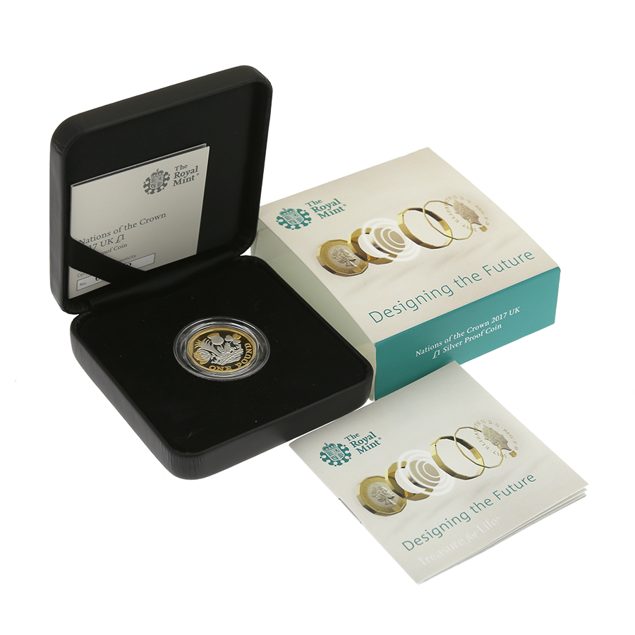 Pre-Owned 2017 UK Nations of the Crown £1 Silver Proof Coin - VAT Free