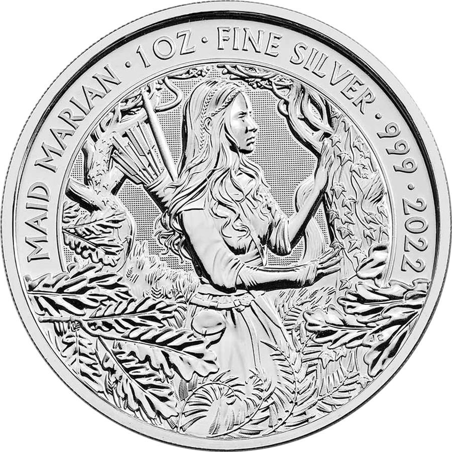 2022 UK Maid Marian 1oz Silver Coin - Second Quality