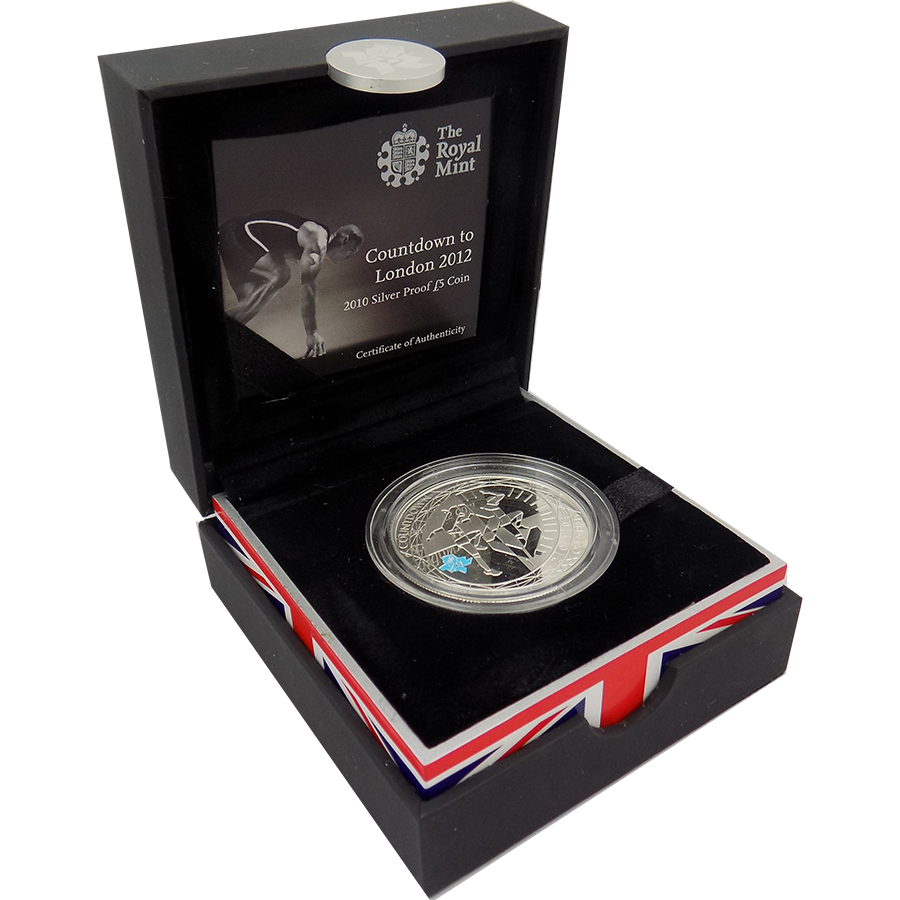 Pre-Owned 2010 Countdown to the Olympics Silver Proof £5 Coin - VAT Free