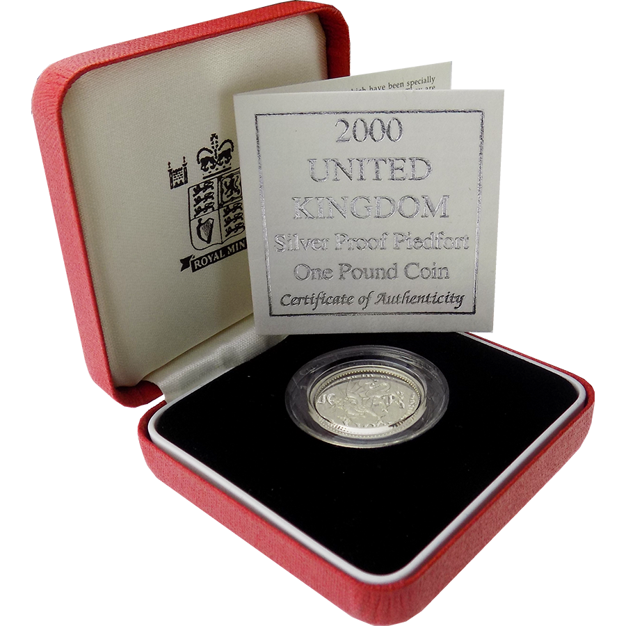 Pre-Owned 2000 UK £1 Silver Proof Piedfort Coin - VAT Free