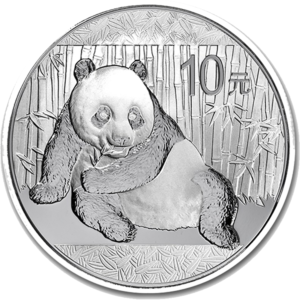 Pre-Owned Chinese Panda 1oz Silver Coin - Mixed Dates - VAT Free