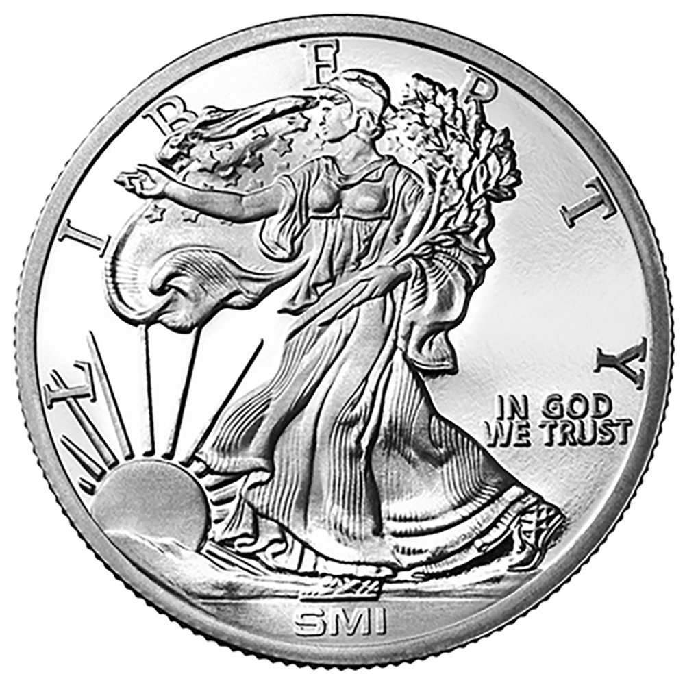 Sunshine Walking Liberty 1oz Silver Round