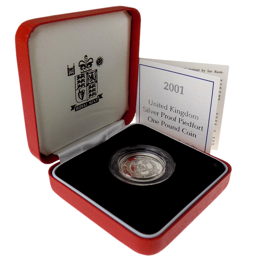Pre-Owned 2001 UK Proof Piedfort £1 Silver Coin - VAT Free