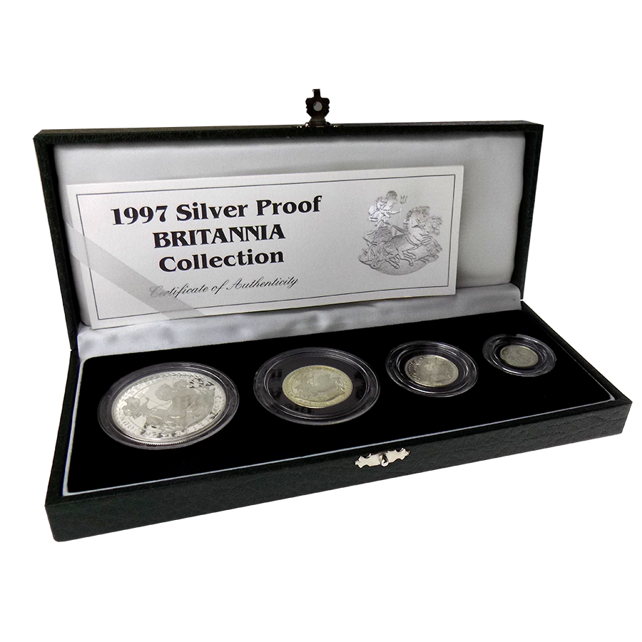 Pre-Owned 1997 UK Britannia Proof 4 Silver Coin Collection - VAT Free