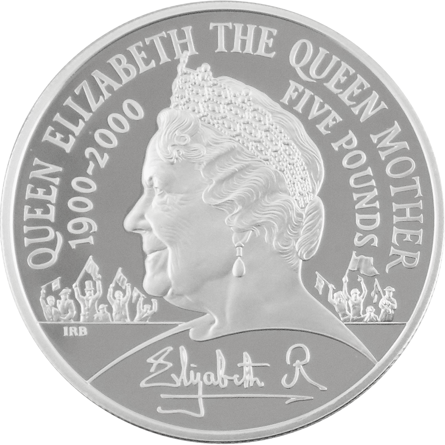 Pre-Owned 1900-2000 Silver Piedfort Queen Mother Centenary Crown