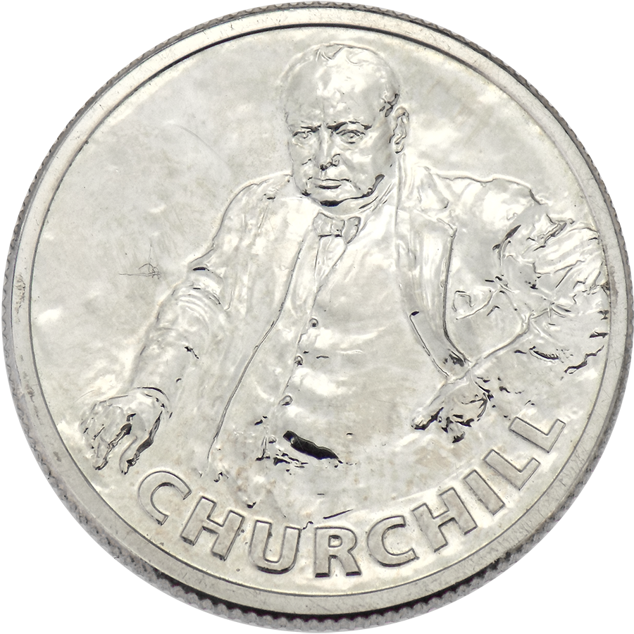 Pre-Owned 2015 Sir Winston Churchill Silver £20 Coin - VAT Free