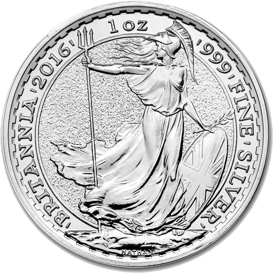 2016 UK Britannia 1oz Silver Coin