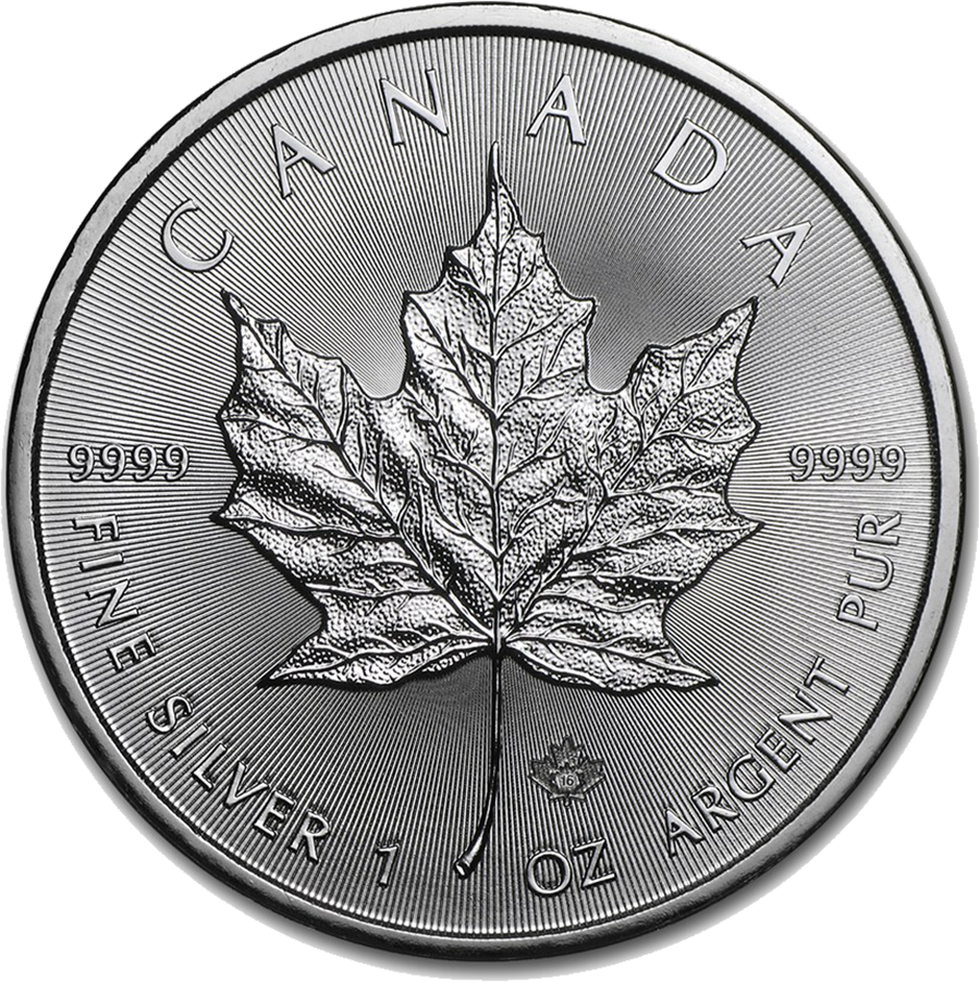 2016 Canadian Maple 1oz Silver Coin