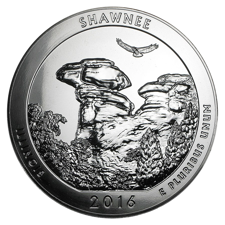 2016 ATB Shawnee National Forest 5oz Silver Coin
