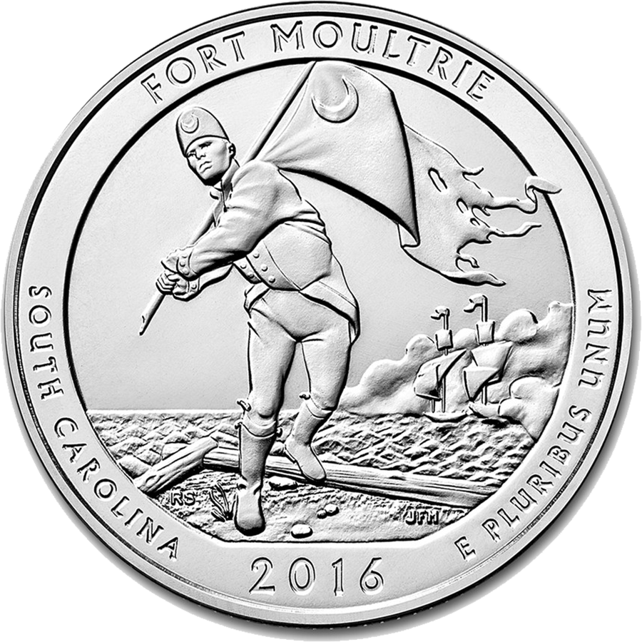 2016 ATB Fort Moultrie 5oz Silver Coin