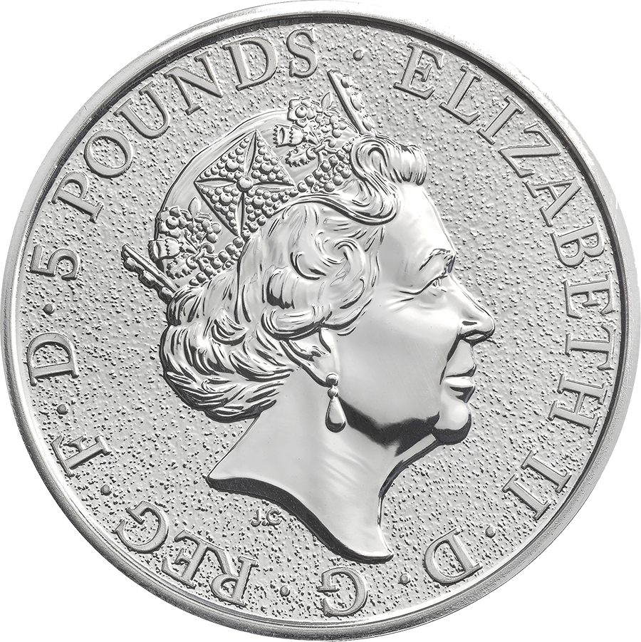2016 UK Queen's Beasts The Lion 2oz Silver Coin (Image 2)