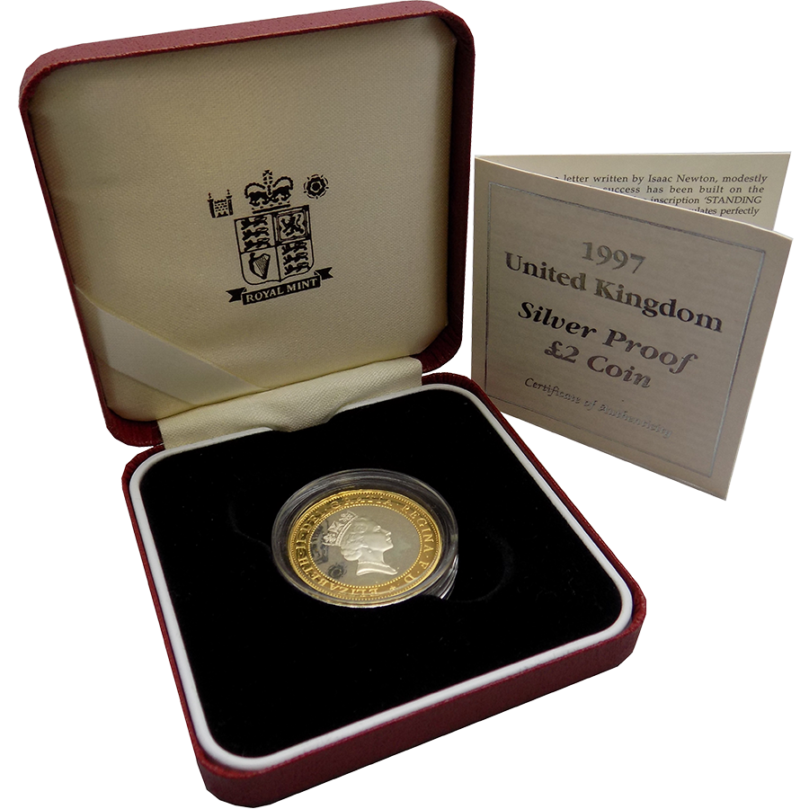 Pre-Owned 1997 UK £2 Silver Proof Coin - VAT Free