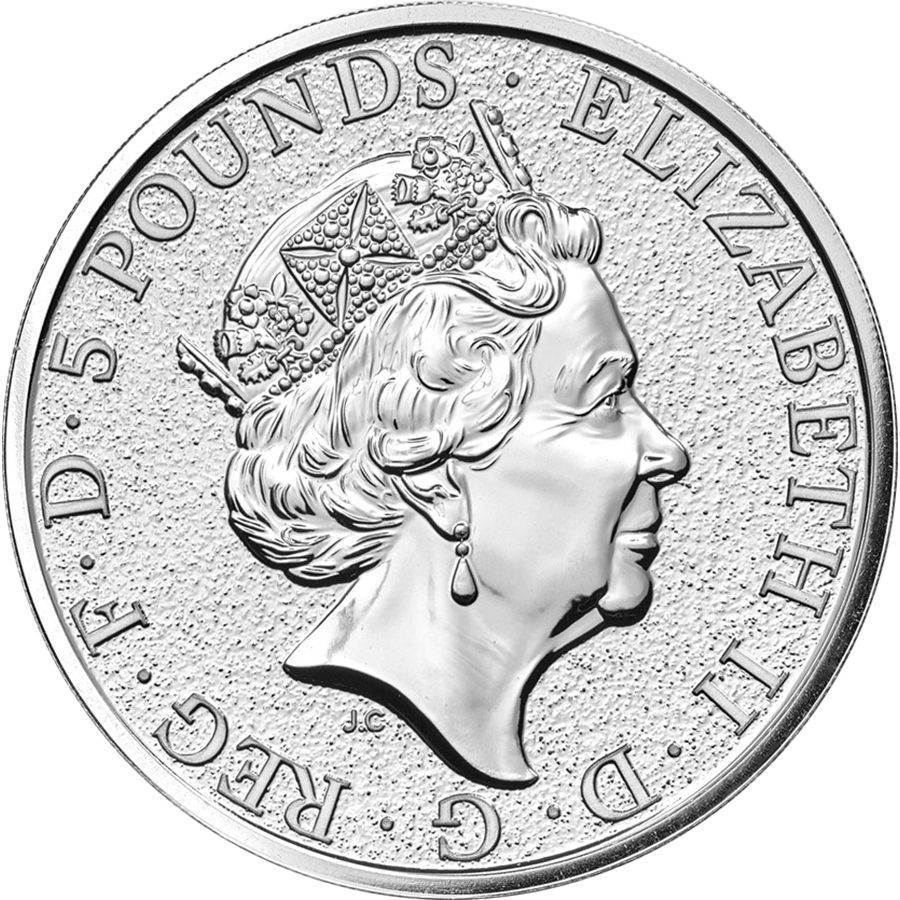 2017 UK Queen's Beasts The Griffin 2oz Silver Coin (Image 2)