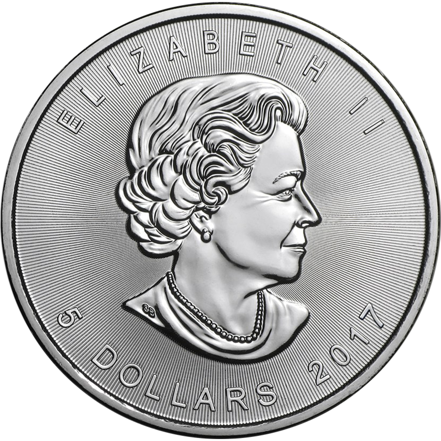 2017 Canadian Maple 1oz Silver Coin (Image 2)