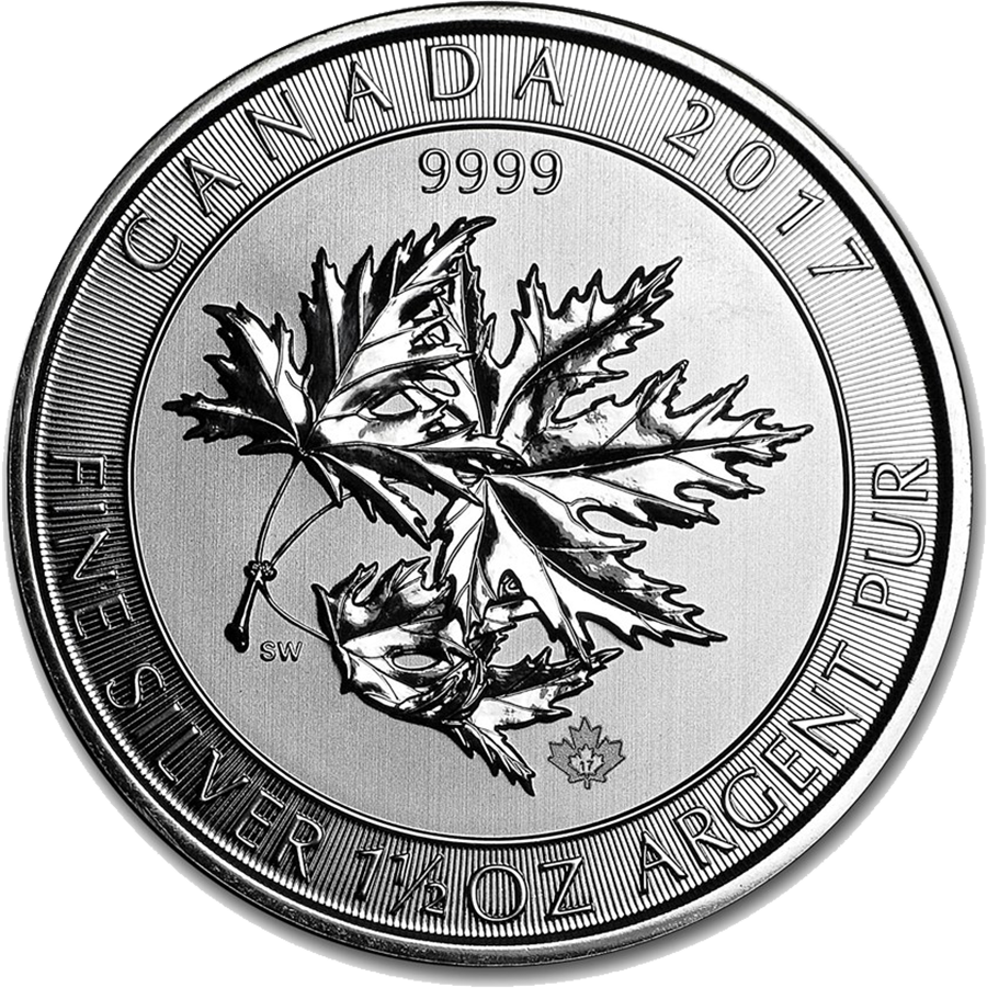 2017 Canadian SuperLeaf 1.5oz Silver Coin
