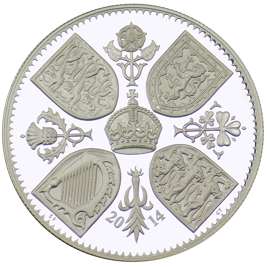 Pre-Owned 2014 UK First Birthday of Prince George £5 Silver Coin - VAT Free (Image 2)