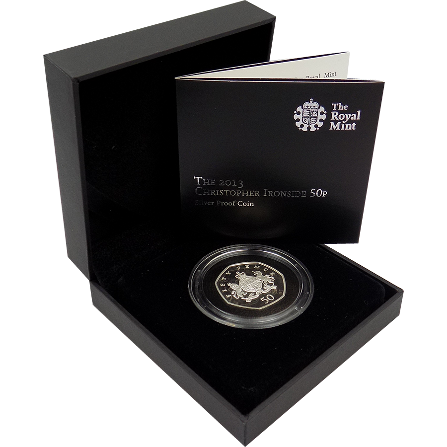 Pre-Owned 2013 UK Christopher Ironside 50p Silver Proof Coin - VAT Free