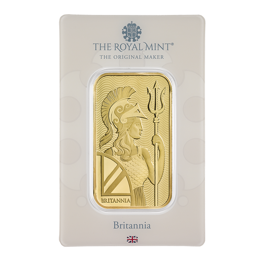 Royal Mint Britannia 1oz Gold Bar (Image 2)
