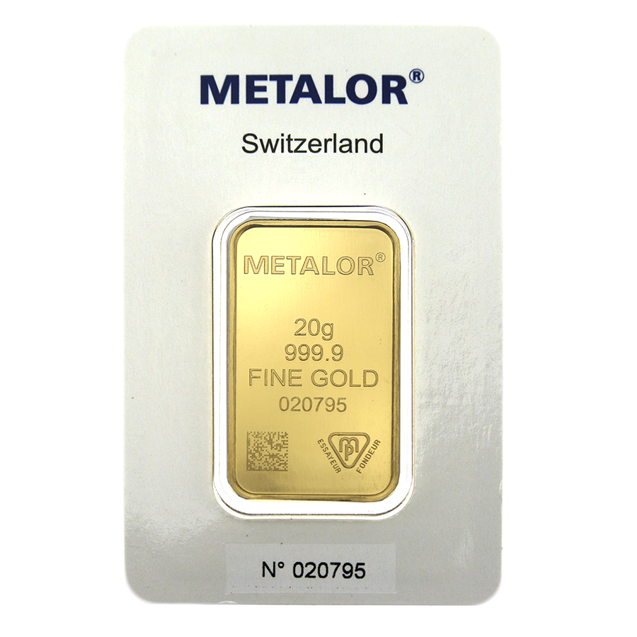 Metalor Stamped 20g Gold Bar