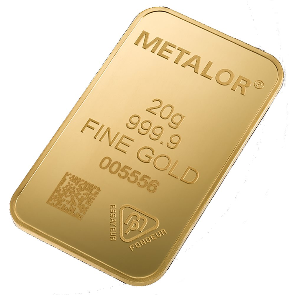 Metalor Stamped 20g Gold Bar (Image 2)