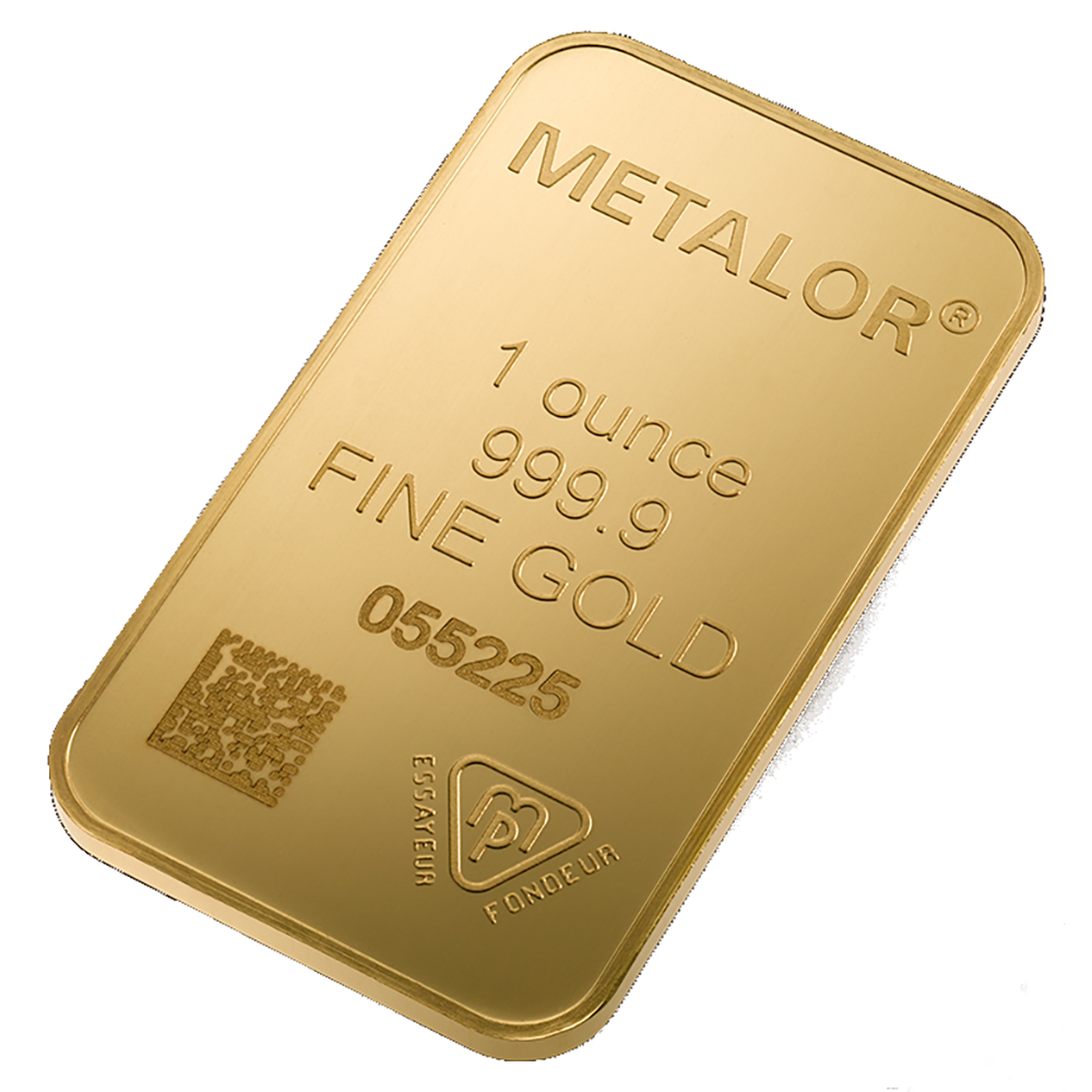 Metalor Stamped 1oz Gold Bar (Image 3)