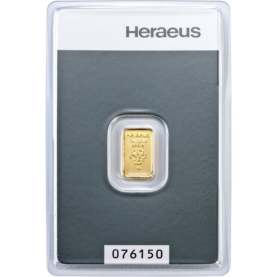 Heraeus 1g Gold Bar (Image 1)