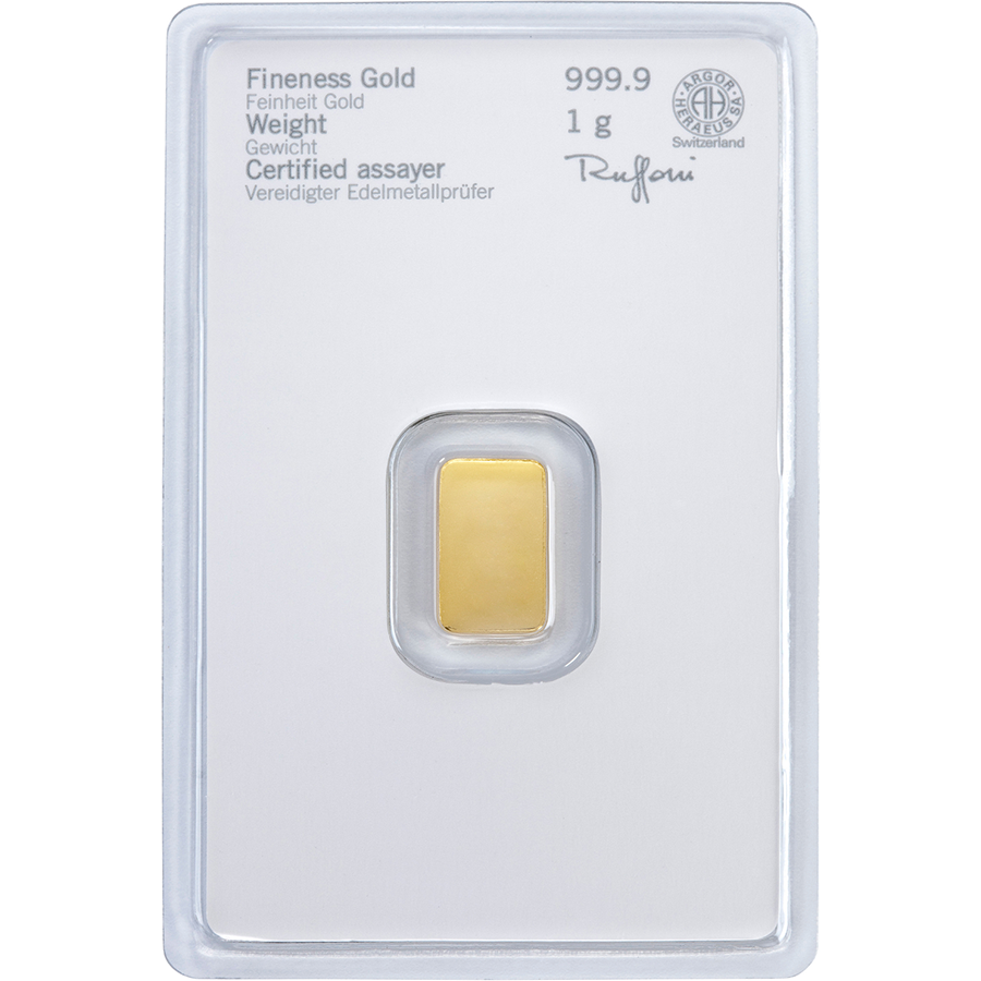 Heraeus 1g Gold Bar (Image 2)
