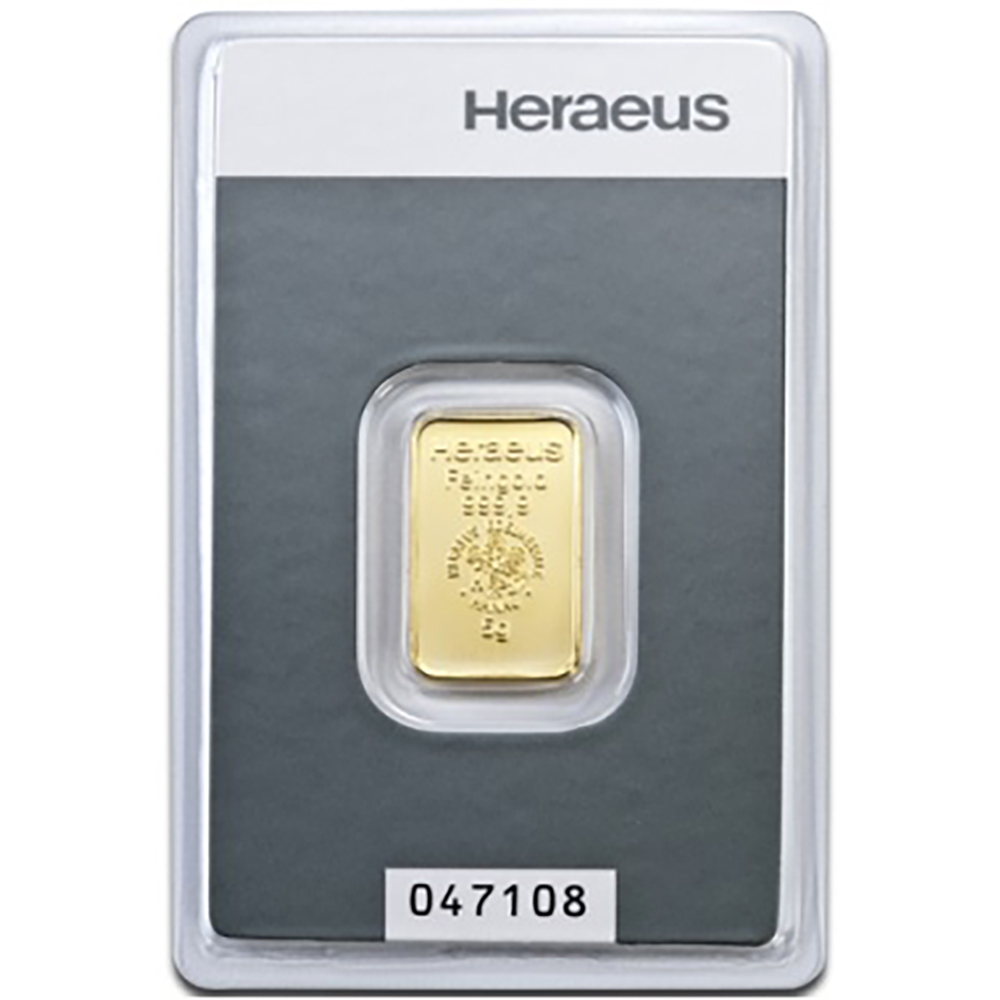 Heraeus 5g Gold Bar