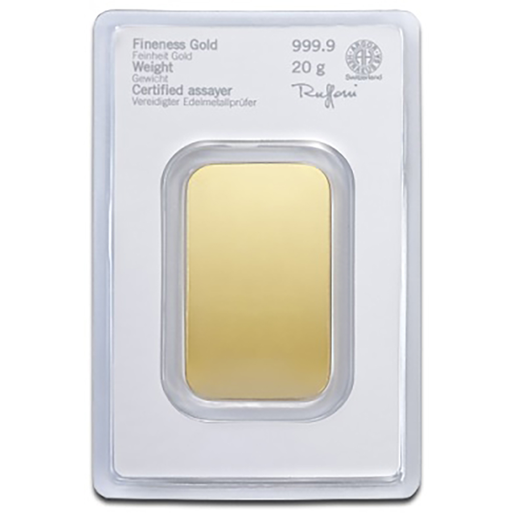 Heraeus 20g Gold Bar (Image 2)