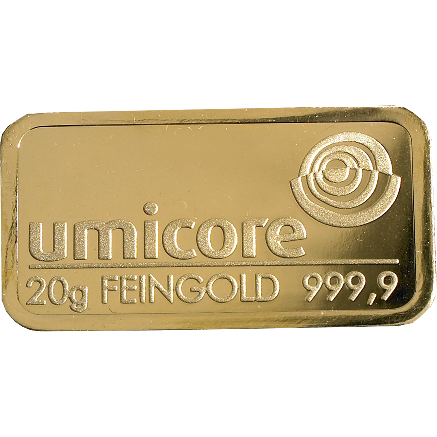 Umicore 20g Gold Stamped Bar