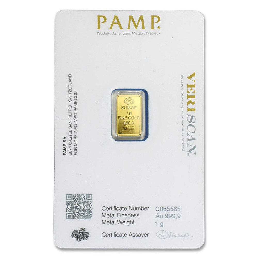 Pamp Suisse Fortuna 1g Gold Bar Gold Bullion Bars