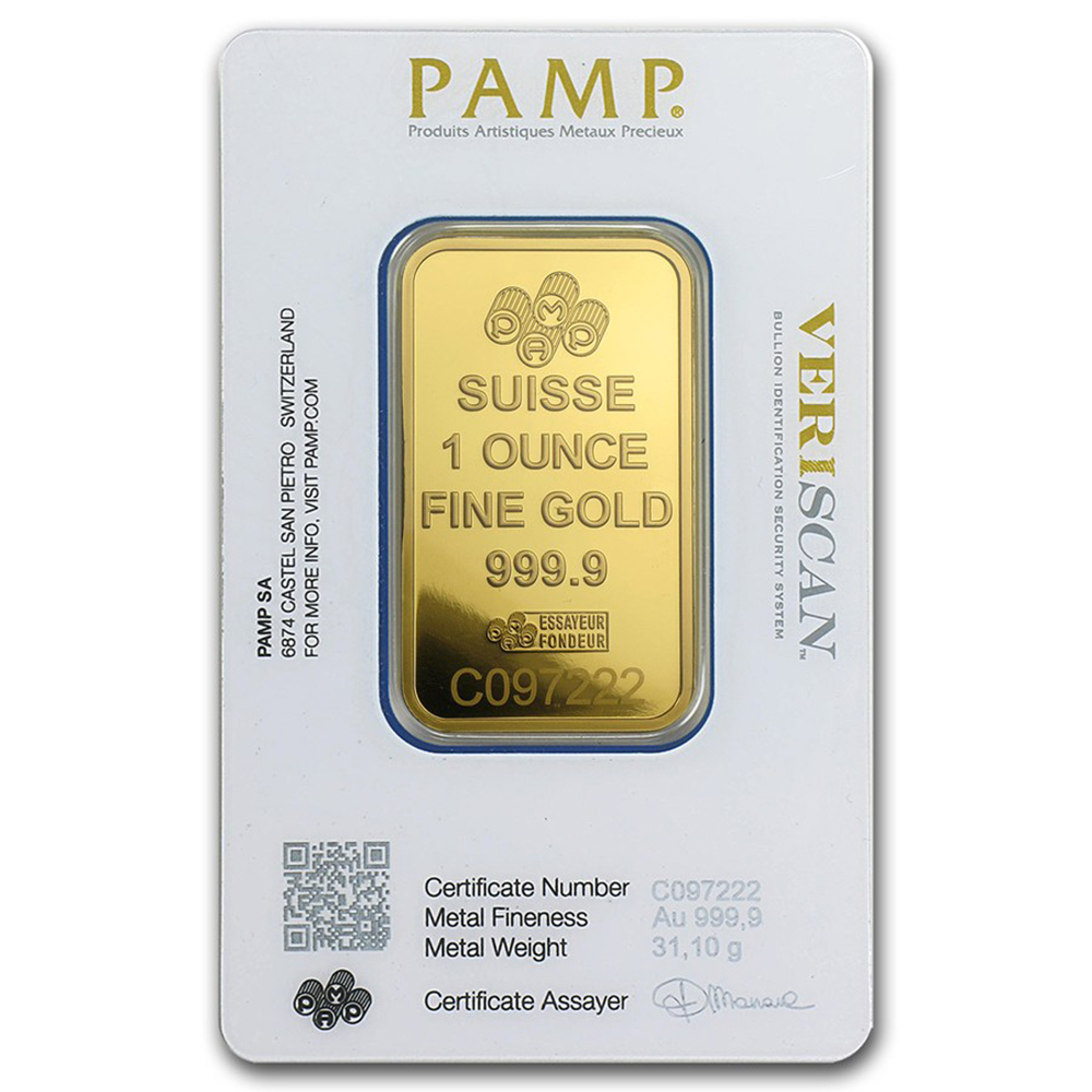 Buy Pamp Suisse Fortuna 1oz Gold Bar Gold Pamp Bars For Sale