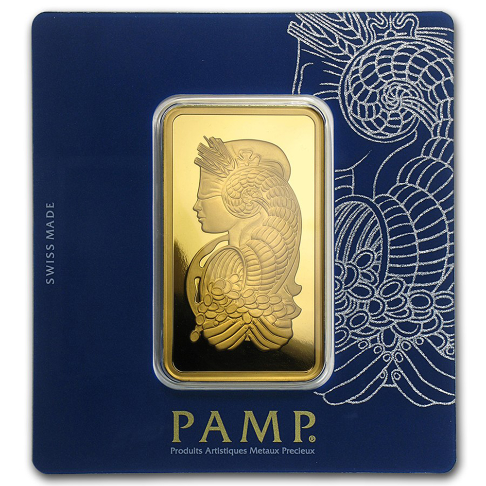 PAMP Suisse Fortuna 100g Gold Bar