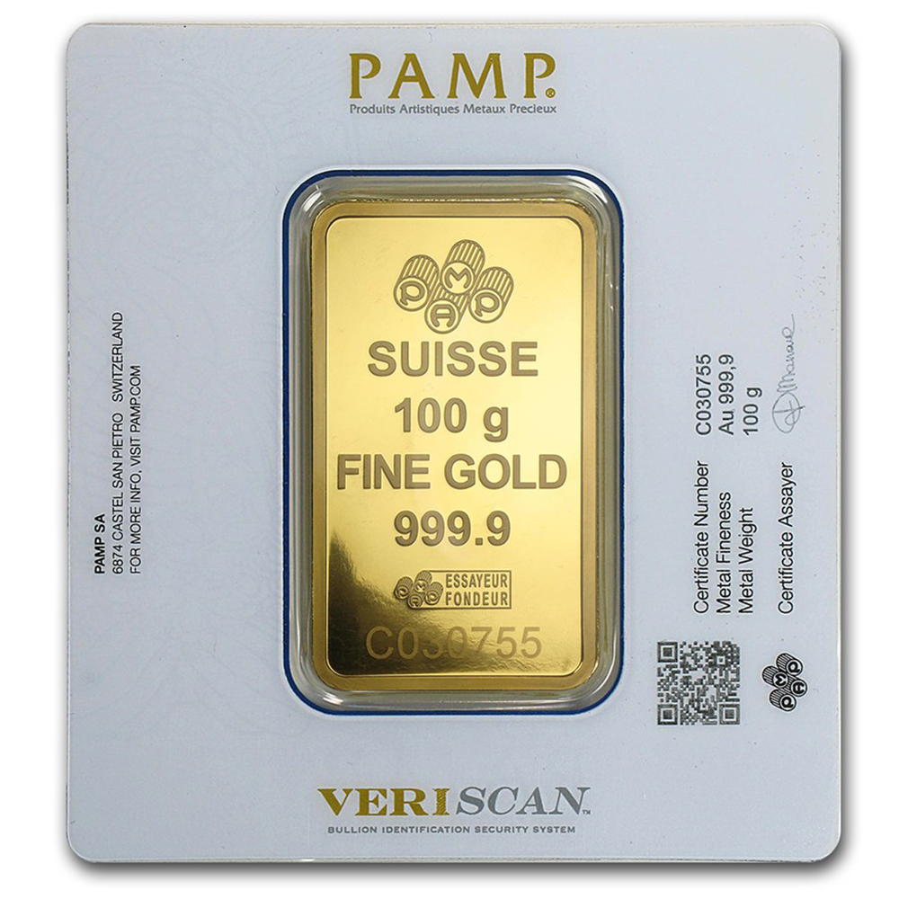 Pamp Suisse Fortuna 100g Gold Bar Good Value Pamp Gold